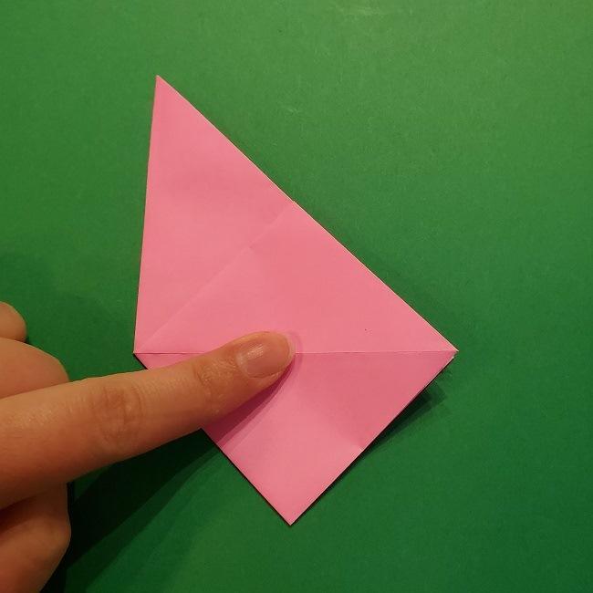 4月の折り紙 チューリップ(立体)の花*作り方折り方 (15)