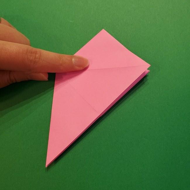 4月の折り紙 チューリップ(立体)の花*作り方折り方 (16)