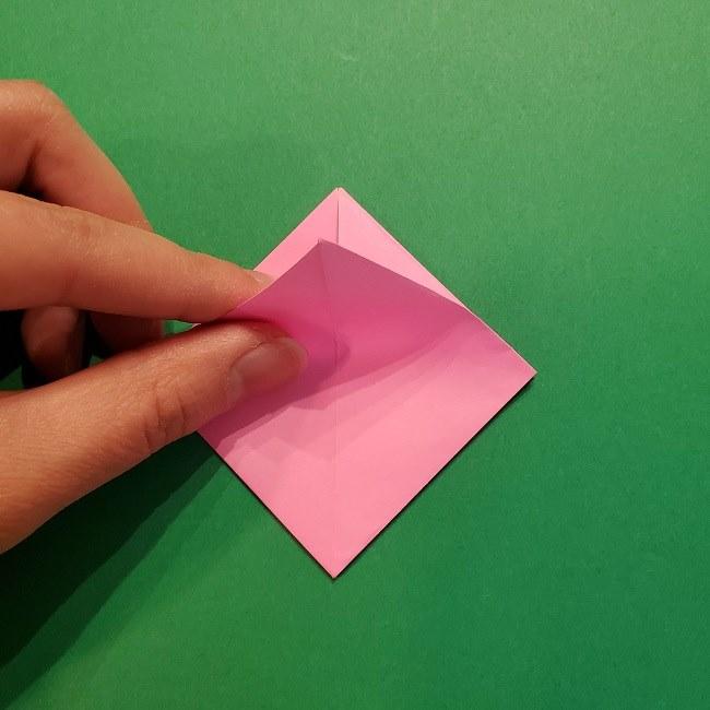 4月の折り紙 チューリップ(立体)の花*作り方折り方 (18)
