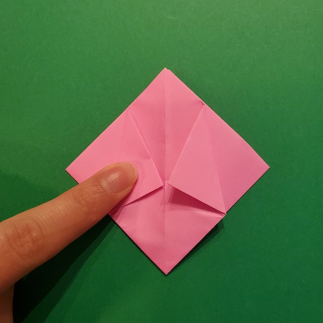 4月の折り紙 チューリップ(立体)の花*作り方折り方 (19)