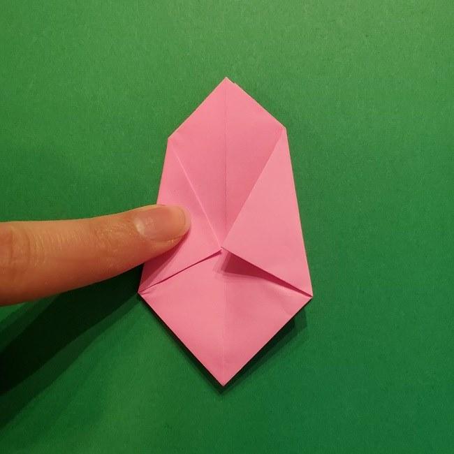4月の折り紙 チューリップ(立体)の花*作り方折り方 (21)