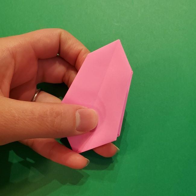 4月の折り紙 チューリップ(立体)の花*作り方折り方 (23)