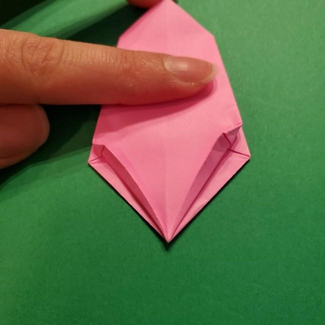 4月の折り紙 チューリップ(立体)の花*作り方折り方 (24)