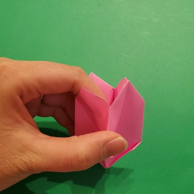4月の折り紙 チューリップ(立体)の花*作り方折り方 (27)