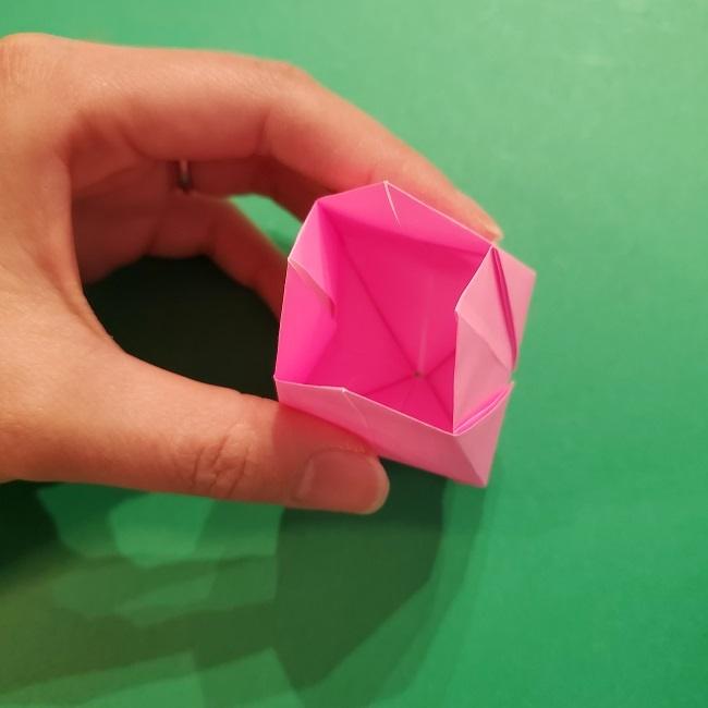 4月の折り紙 チューリップ(立体)の花*作り方折り方 (28)