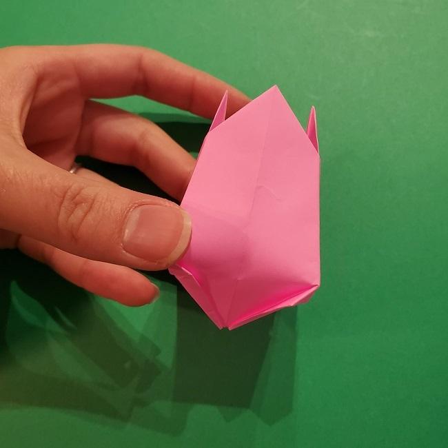 4月の折り紙 チューリップ(立体)の花*作り方折り方 (29)