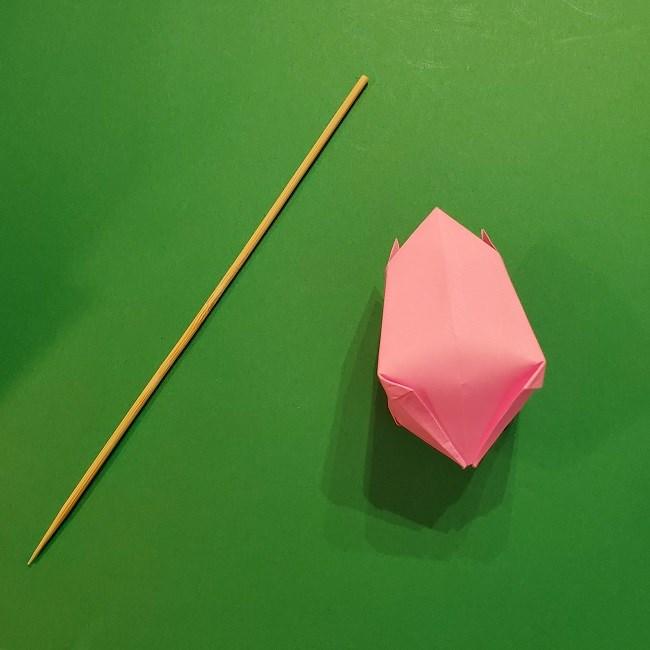 4月の折り紙 チューリップ(立体)の花*作り方折り方 (30)