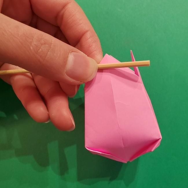 4月の折り紙 チューリップ(立体)の花*作り方折り方 (31)