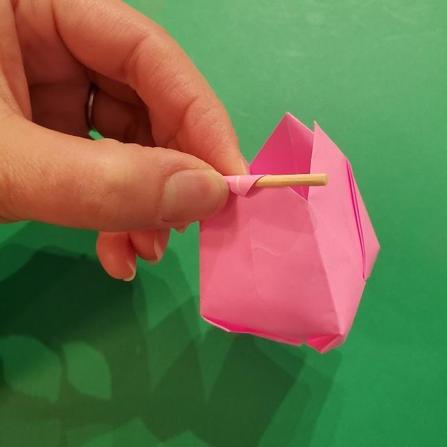 4月の折り紙 チューリップ(立体)の花*作り方折り方 (32)