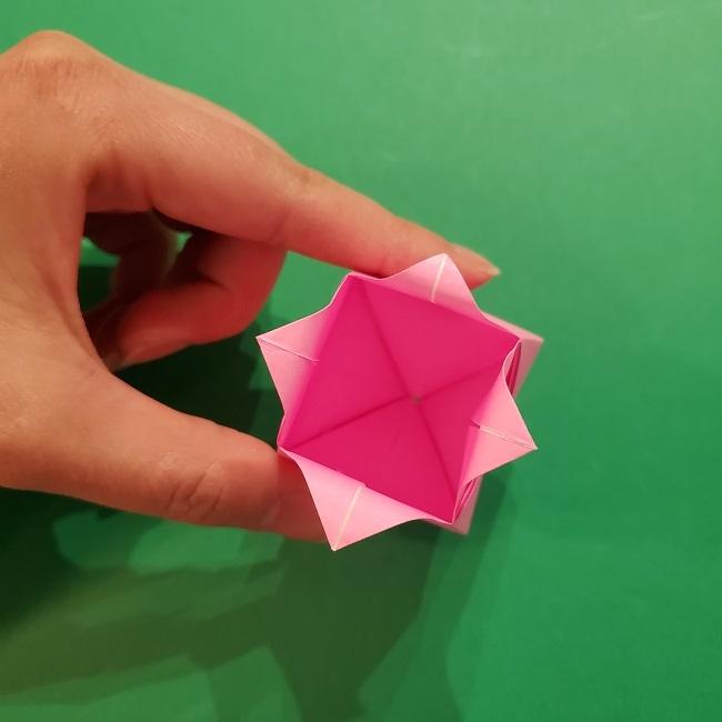4月の折り紙 チューリップ(立体)の花*作り方折り方 (33)