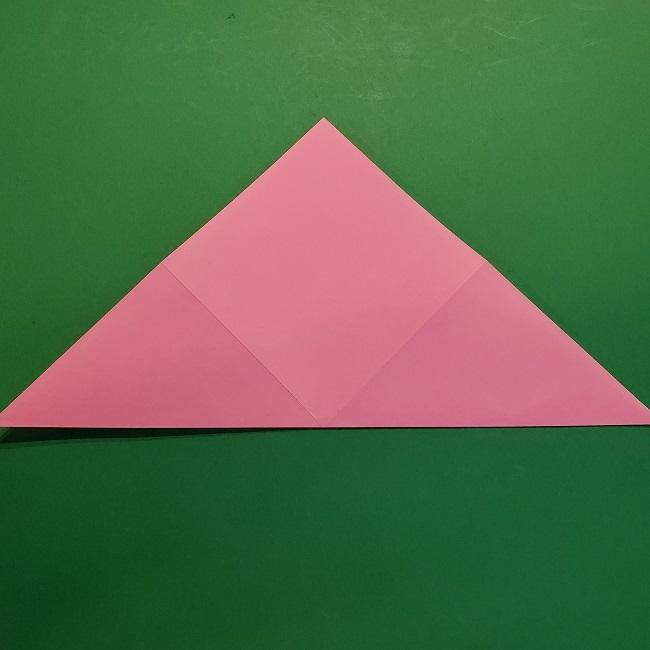 4月の折り紙 チューリップ(立体)の花*作り方折り方 (6)