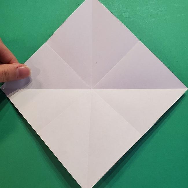 4月の折り紙 チューリップ(立体)の花*作り方折り方 (8)