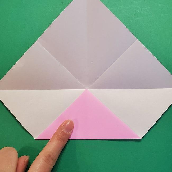 4月の折り紙 チューリップ(立体)の花*作り方折り方 (9)