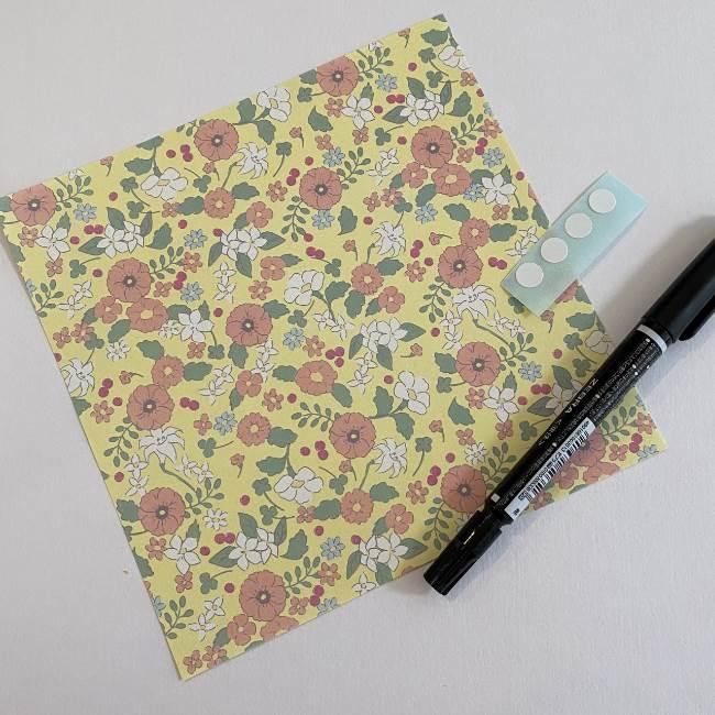 かたつむりの折り紙(幼児・子ども向け)*用意するもの