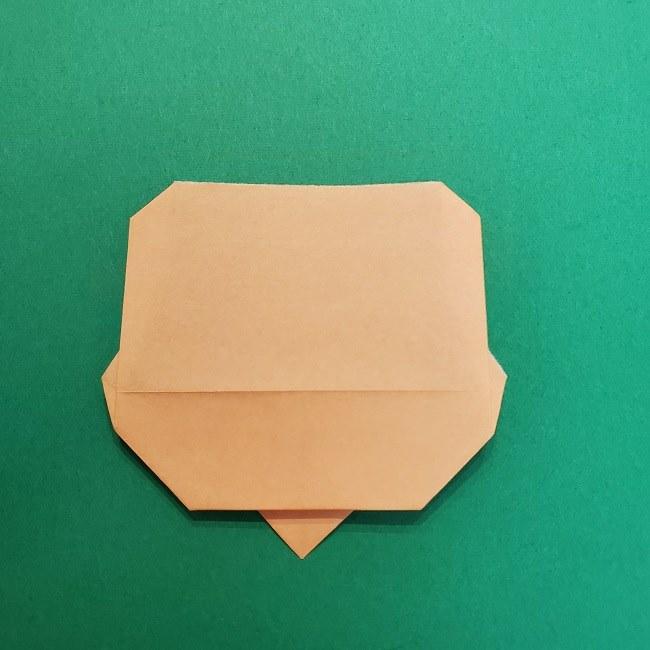 きめつのやいばの折り紙 うろこだき(鱗滝左近次)の折り方作り方①顔 (10)
