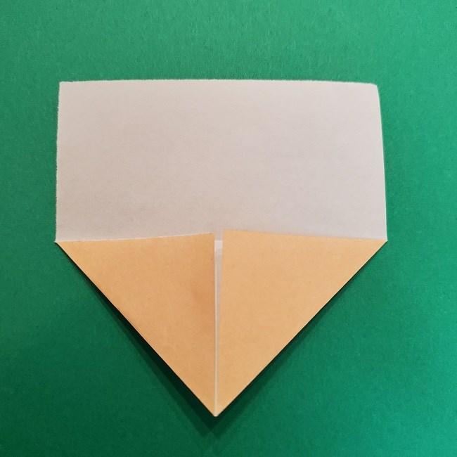 きめつのやいばの折り紙 うろこだき(鱗滝左近次)の折り方作り方①顔 (4)