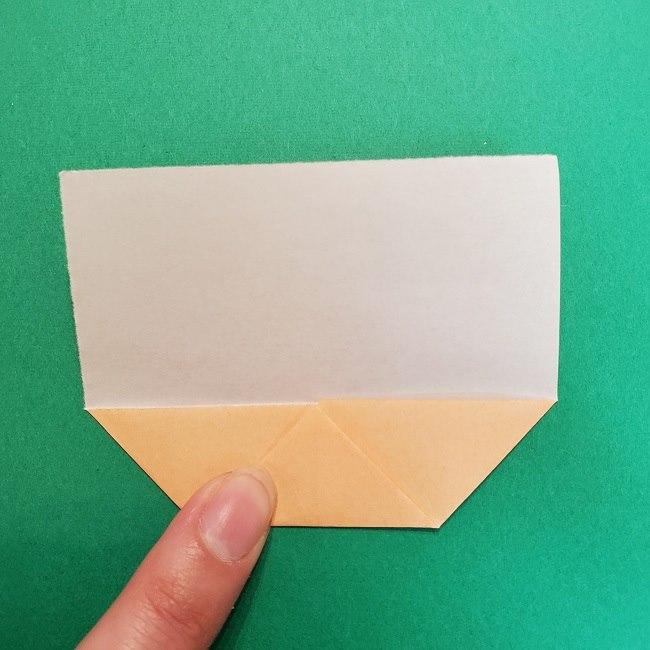 きめつのやいばの折り紙 うろこだき(鱗滝左近次)の折り方作り方①顔 (5)