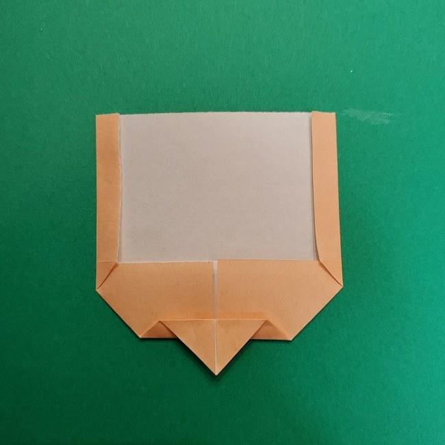 きめつのやいばの折り紙 うろこだき(鱗滝左近次)の折り方作り方①顔 (7)