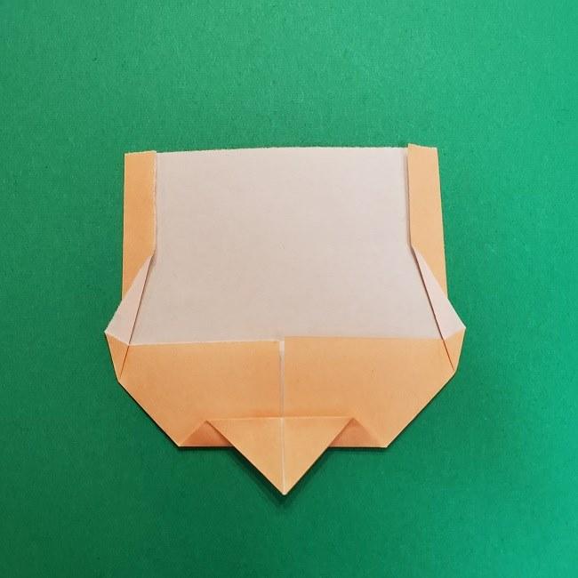 きめつのやいばの折り紙 うろこだき(鱗滝左近次)の折り方作り方①顔 (8)