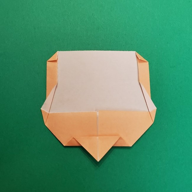きめつのやいばの折り紙 うろこだき(鱗滝左近次)の折り方作り方①顔 (9)