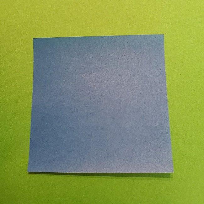 きめつのやいばの折り紙 うろこだき(鱗滝左近次)の折り方作り方②着物 (1)