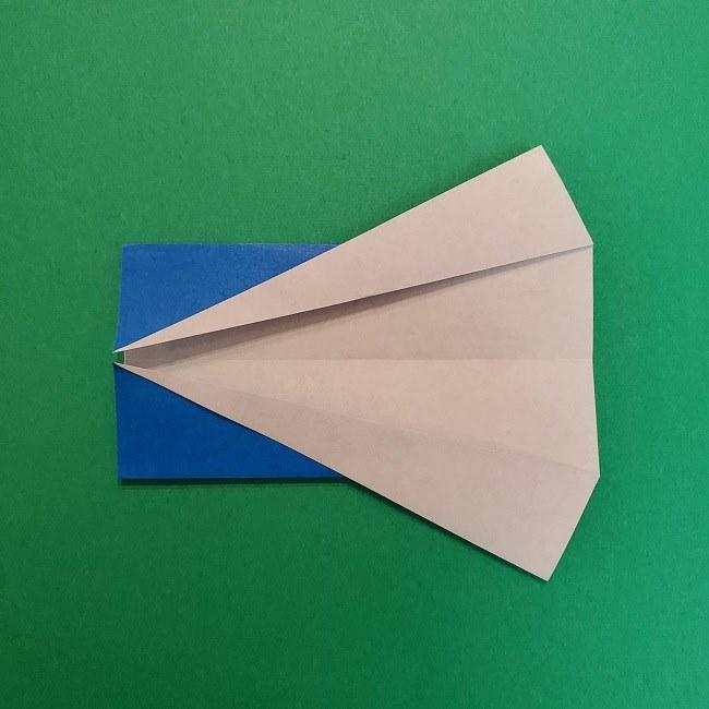 きめつのやいばの折り紙 うろこだき(鱗滝左近次)の折り方作り方②着物 (5)