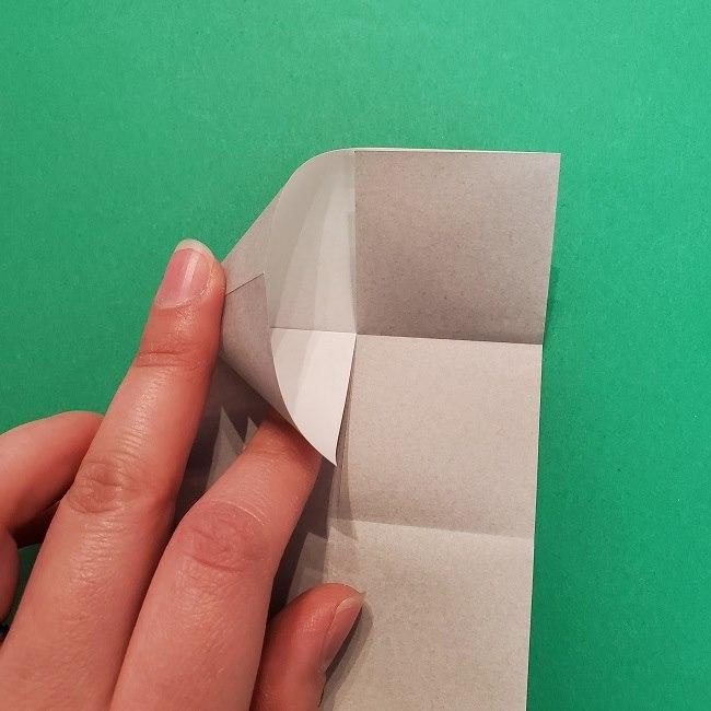 きめつのやいばの折り紙 うろこだき(鱗滝左近次)の折り方作り方③髪 (10)