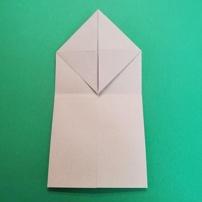 きめつのやいばの折り紙 うろこだき(鱗滝左近次)の折り方作り方③髪 (12)