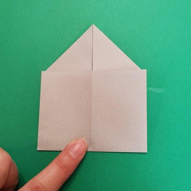 きめつのやいばの折り紙 うろこだき(鱗滝左近次)の折り方作り方③髪 (13)