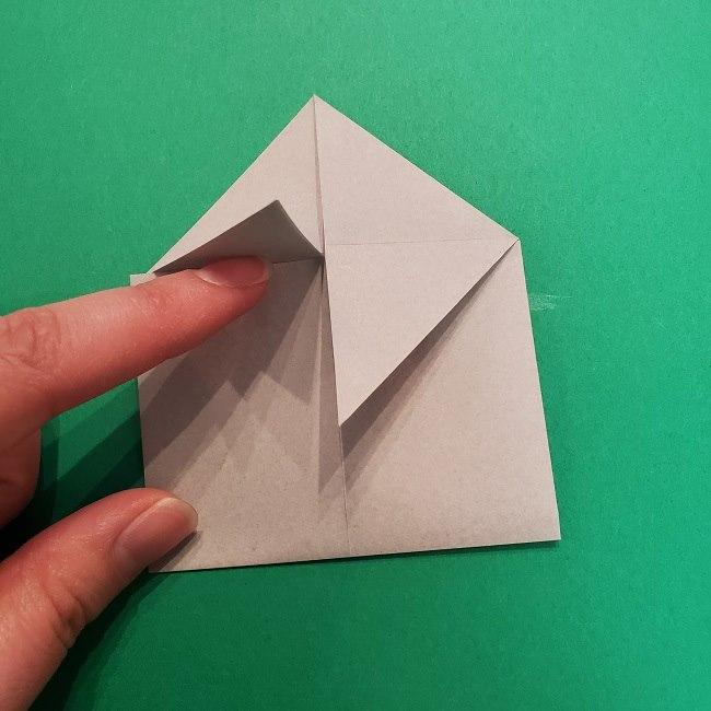 きめつのやいばの折り紙 うろこだき(鱗滝左近次)の折り方作り方③髪 (14)