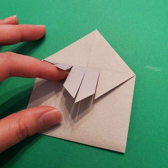 きめつのやいばの折り紙 うろこだき(鱗滝左近次)の折り方作り方③髪 (16)