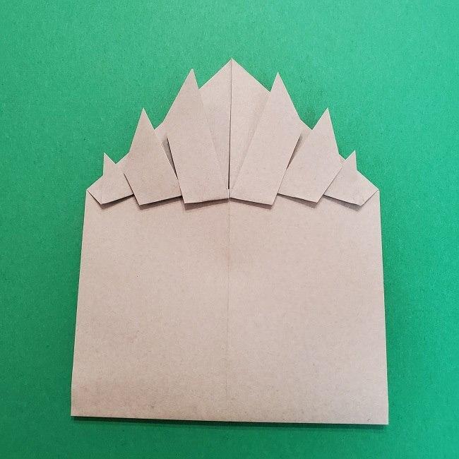 きめつのやいばの折り紙 うろこだき(鱗滝左近次)の折り方作り方③髪 (17)
