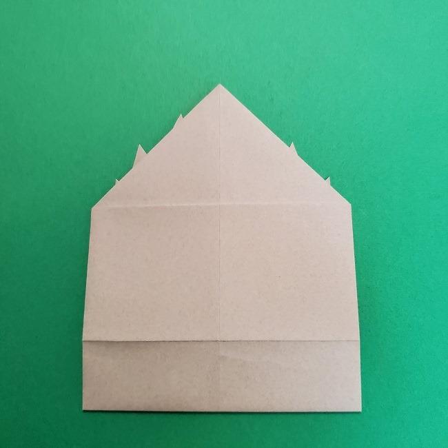 きめつのやいばの折り紙 うろこだき(鱗滝左近次)の折り方作り方③髪 (18)