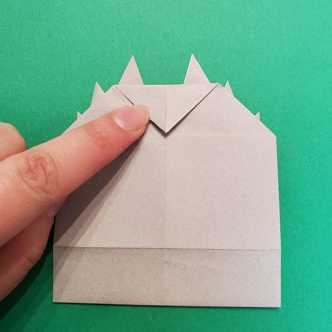 きめつのやいばの折り紙 うろこだき(鱗滝左近次)の折り方作り方③髪 (19)