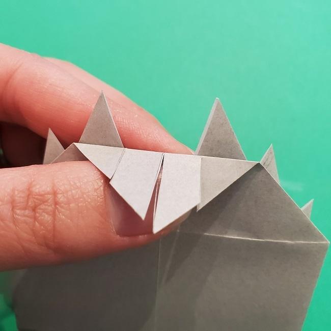 きめつのやいばの折り紙 うろこだき(鱗滝左近次)の折り方作り方③髪 (20)