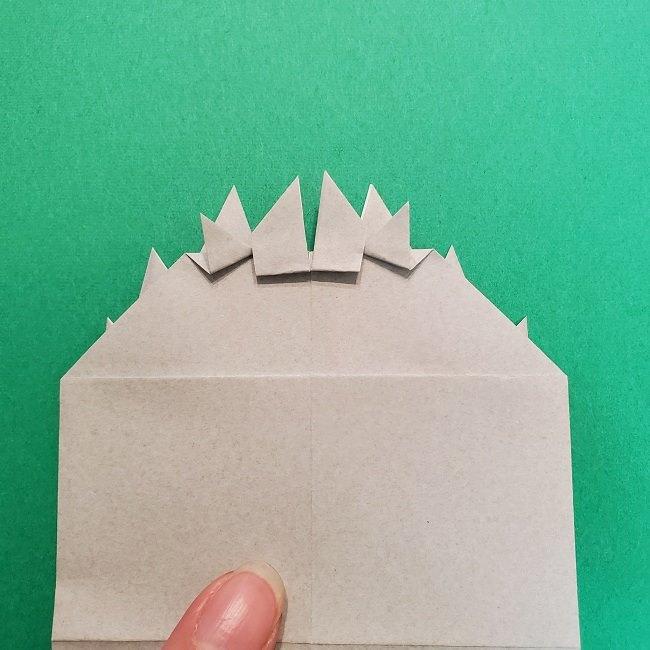 きめつのやいばの折り紙 うろこだき(鱗滝左近次)の折り方作り方③髪 (21)