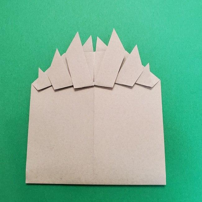 きめつのやいばの折り紙 うろこだき(鱗滝左近次)の折り方作り方③髪 (22)