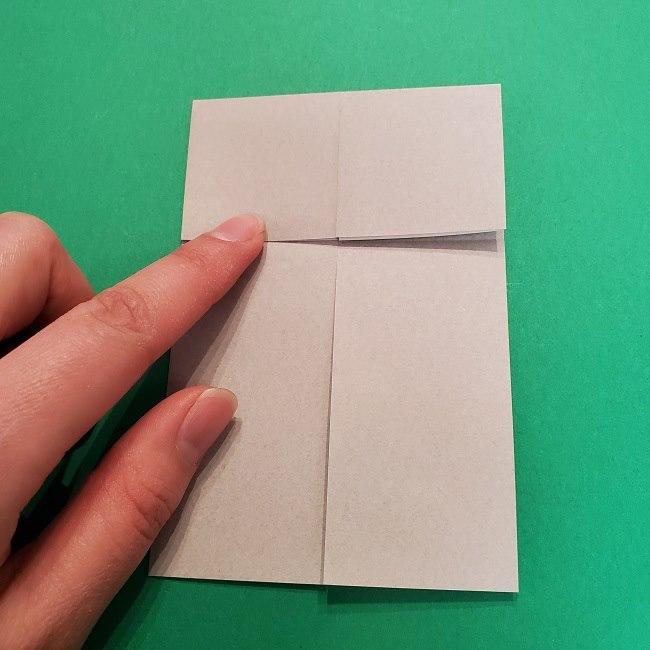 きめつのやいばの折り紙 うろこだき(鱗滝左近次)の折り方作り方③髪 (8)