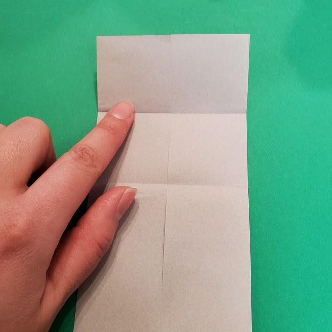 きめつのやいばの折り紙 うろこだき(鱗滝左近次)の折り方作り方③髪 (9)