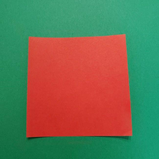 きめつのやいばの折り紙 うろこだき(鱗滝左近次)の折り方作り方④お面 (1)