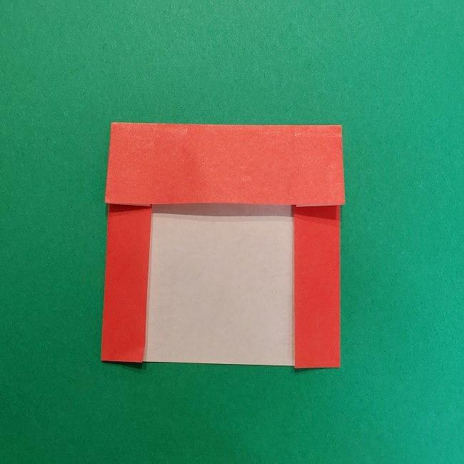 きめつのやいばの折り紙 うろこだき(鱗滝左近次)の折り方作り方④お面 (3)