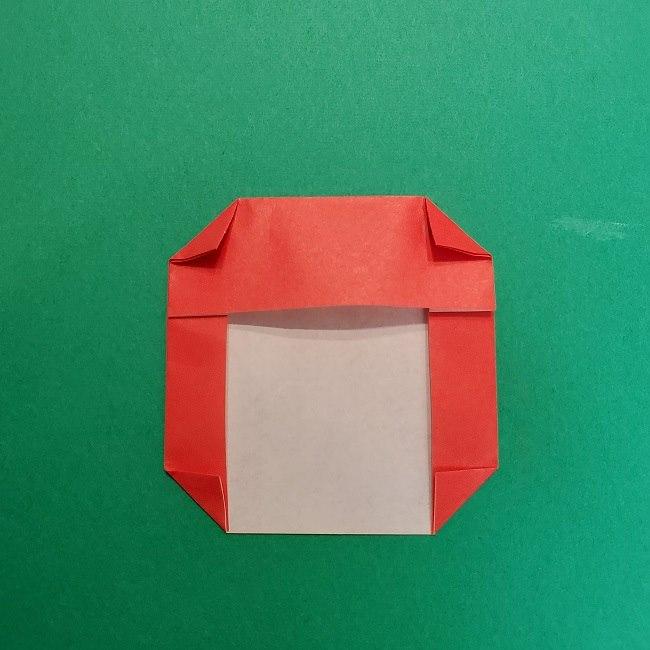 きめつのやいばの折り紙 うろこだき(鱗滝左近次)の折り方作り方④お面 (4)