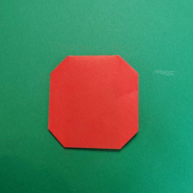 きめつのやいばの折り紙 うろこだき(鱗滝左近次)の折り方作り方④お面 (5)