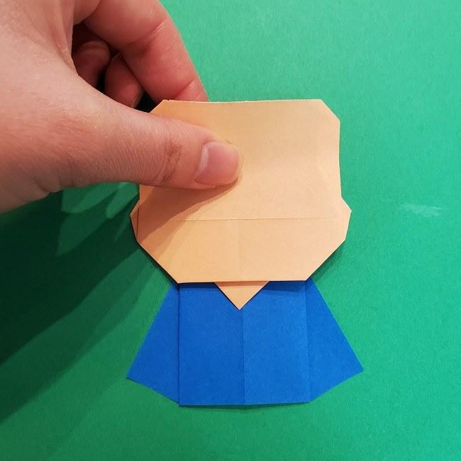 きめつのやいばの折り紙 うろこだき(鱗滝左近次)の折り方作り方⑤完成 (1)