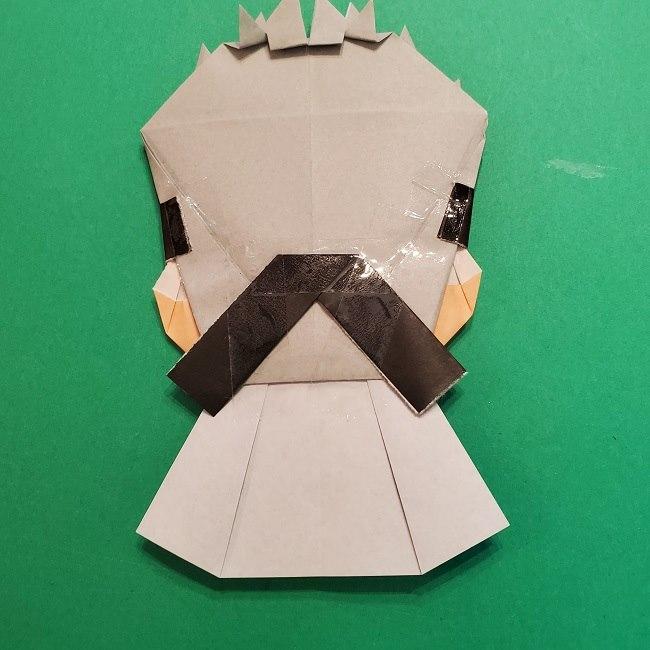 きめつのやいばの折り紙 うろこだき(鱗滝左近次)の折り方作り方⑤完成 (11)