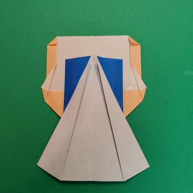 きめつのやいばの折り紙 うろこだき(鱗滝左近次)の折り方作り方⑤完成 (2)