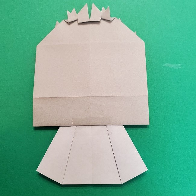 きめつのやいばの折り紙 うろこだき(鱗滝左近次)の折り方作り方⑤完成 (4)