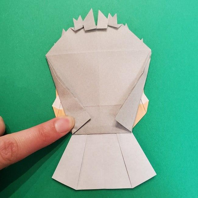 きめつのやいばの折り紙 うろこだき(鱗滝左近次)の折り方作り方⑤完成 (5)