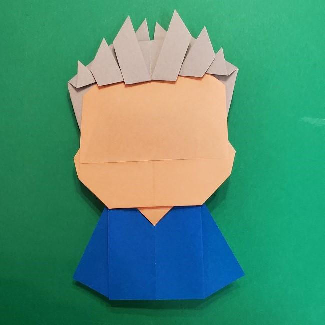 きめつのやいばの折り紙 うろこだき(鱗滝左近次)の折り方作り方⑤完成 (6)