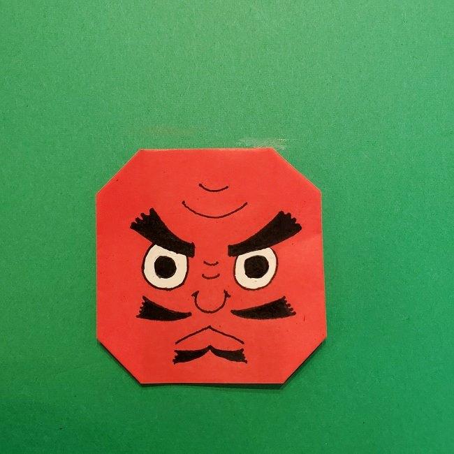 きめつのやいばの折り紙 うろこだき(鱗滝左近次)の折り方作り方⑤完成 (7)